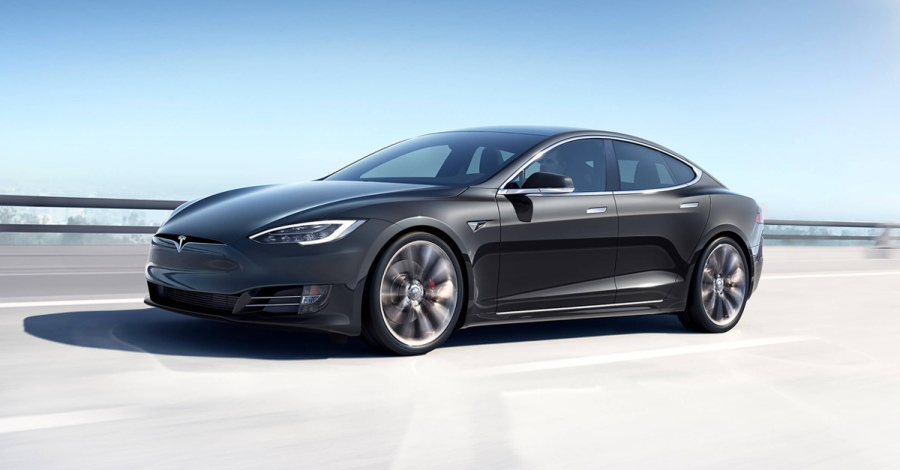 TESLA MODEL S. BLACK AMERICA WORLD NEWS