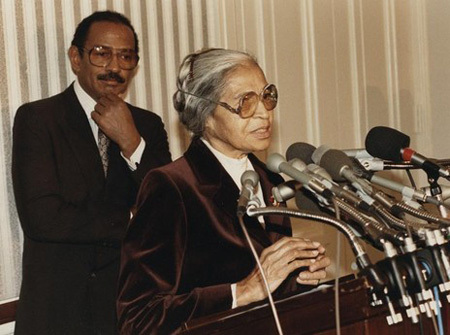 Civil Rights icon Rosa Parks worked as a seamstress until 1965 when African-American U.S. Representative John Conyers hired her as a secretary and receptionist for his congressional office in Detroit. Black America World News